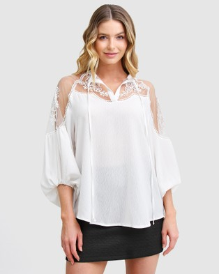 Belle & Bloom - Bronte Afternoon Blouse Tops (White)