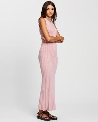 AERE Sunray Pleat Dress - Bodycon Dresses (Pink Lavender)