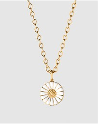 Georg Jensen - Daisy Pendant in White Enamel and Gilt Sterling Silver