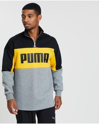 Puma - Retro Crew Turtle Rib-Neck Sweat