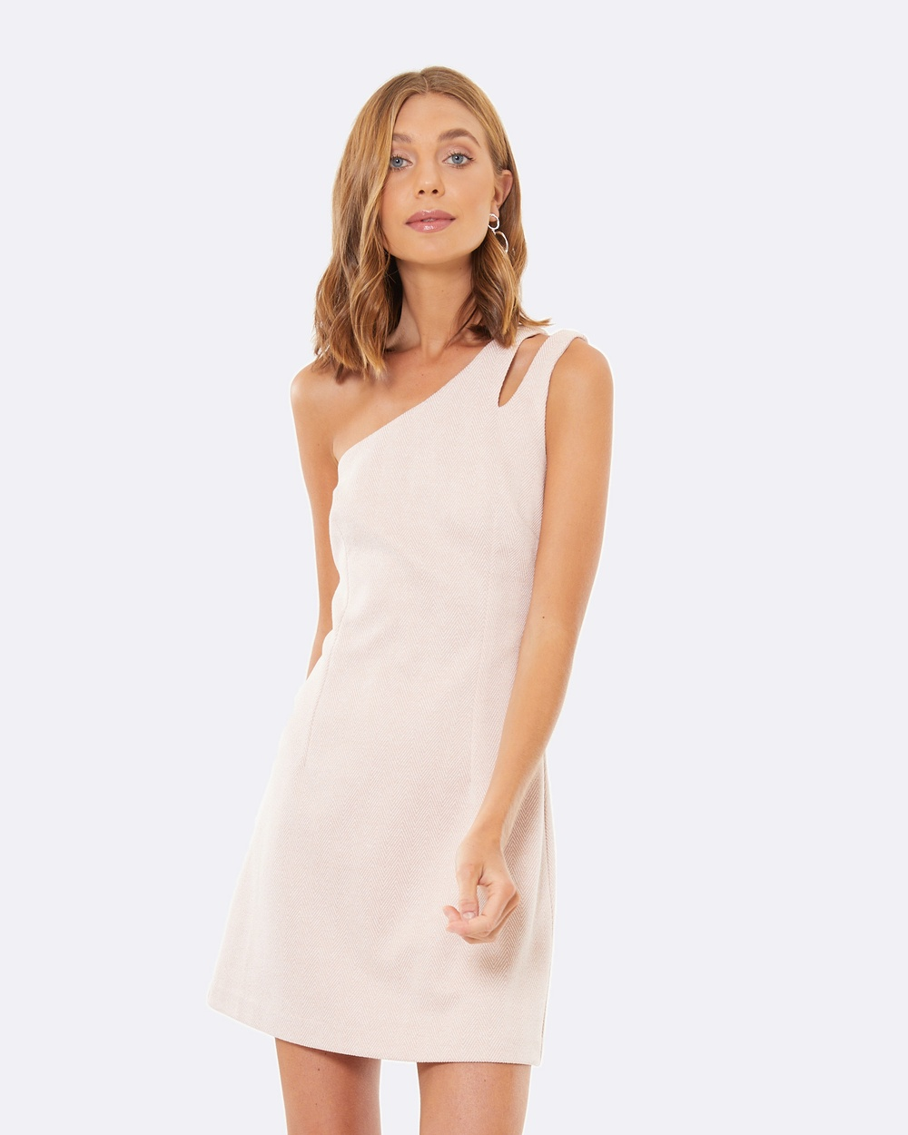 Calli Zana Shoulder Split Dress Dresses Pink Zana Shoulder-Split Dress