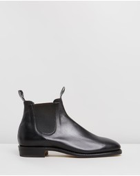 R.M.Williams - Adelaide Boots - Black Kangaroo