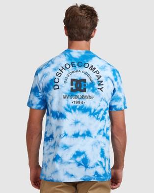 DC Shoes Mens Tie Dye Star T Shirt - Short Sleeve T-Shirts (TURKISH SEA)
