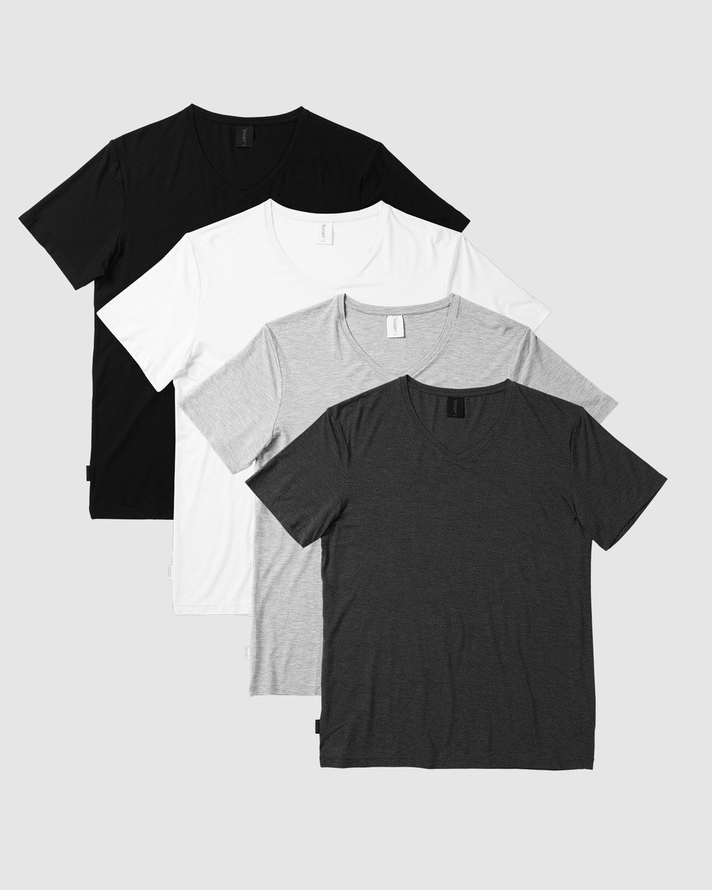 Boody Organic Bamboo Eco Wear - 4 Pack V Neck T Shirt - Short Sleeve T-Shirts (Multi) 4 Pack V-Neck T-Shirt