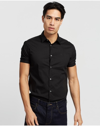 Emporio Armani Ss Shirt Black
