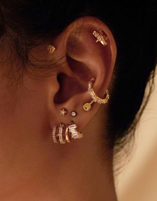 Women Multi Baguette Gold 11mm Ear Cuff