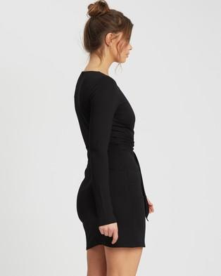 Reux Ava Tie Waist Mini - Dresses (Black)