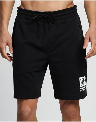 Russell Athletic Zip Shorts Black