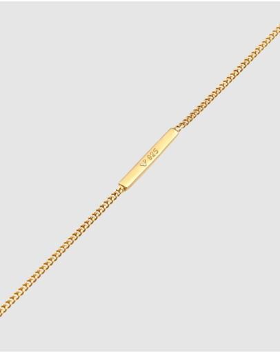 Elli Jewelry Bracelet Set Geo Basic In 925 Sterling Silver Gold Plated