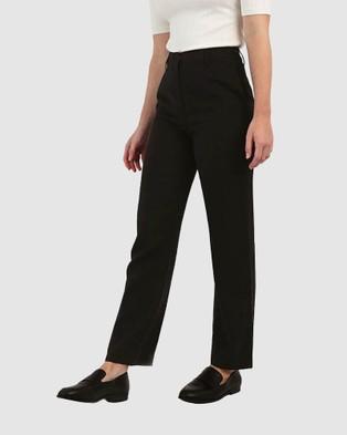 Forcast Andi High Waist Trousers Pants Black High-Waist