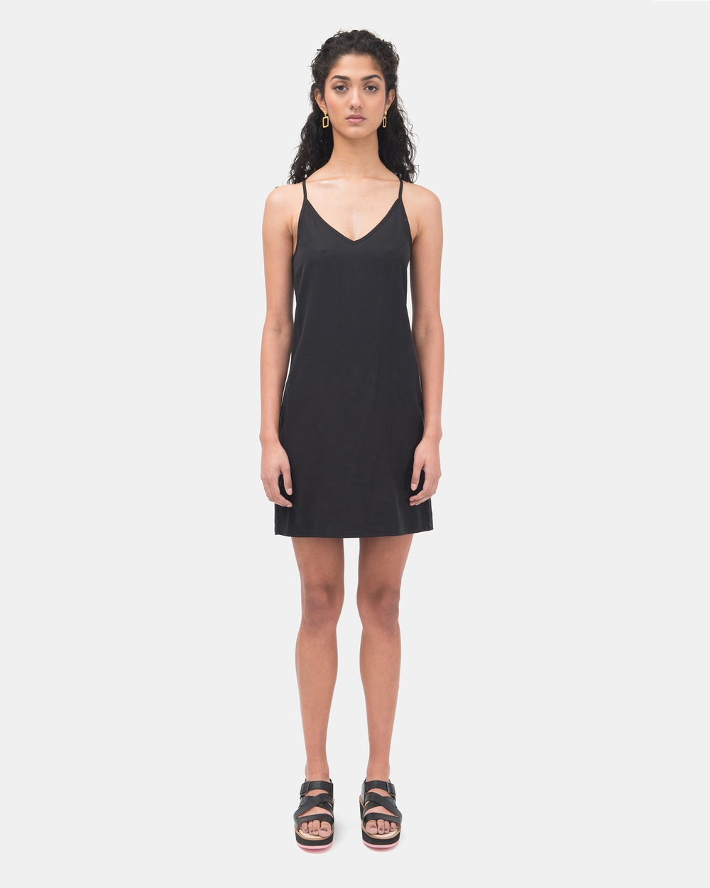 Kuwaii Camisole Slip Dress Dresses Black Camisole Slip Dress