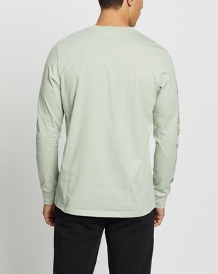 adidas Performance Repeat LS Tee - Long Sleeve T-Shirts (Halo Green)