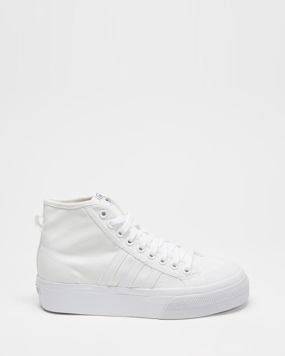 adidas Originals Nizza Hi Platform Women's Lifestyle Sneakers Footwear White, Footwear White & White