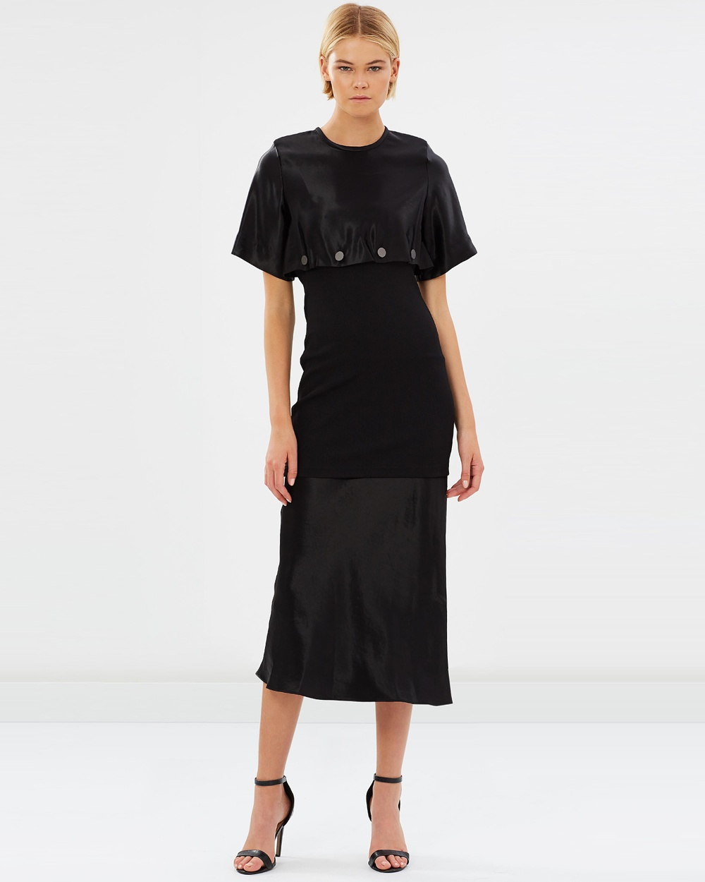 Christopher Esber Buttoned Disect Tee Dress Dresses Black Buttoned Disect Tee Dress