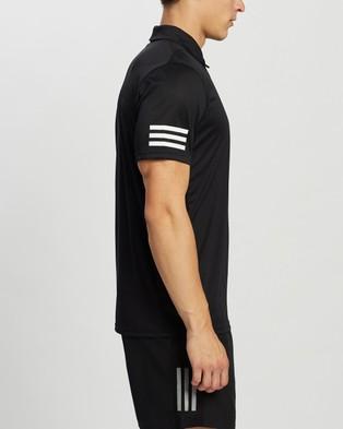 adidas Performance Tennis Club 3 Stripes Polo Shirt - Shirts & Polos (Black & White)