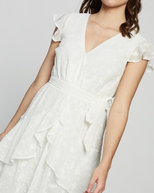 MINKPINK Ashlyn Frill Midi Dress - Dresses (White)