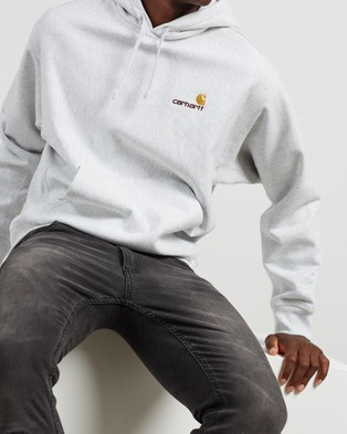 Carhartt American Script Hooded Sweatshirt - Hoodies (Ash Heather)