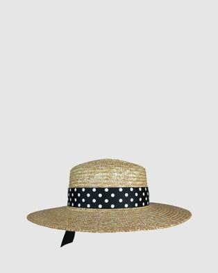 Morgan & Taylor Malia Boater - Hats (Natural)