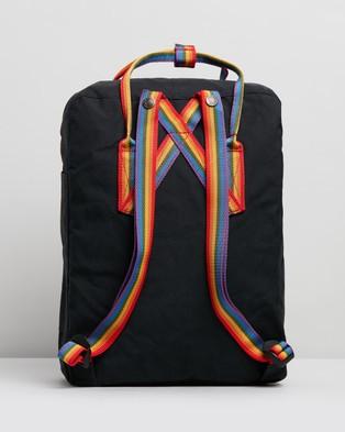 Fjallraven Kanken Rainbow - Backpacks (Black & Rainbow Pattern)