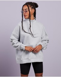 Missguided - High-Neck Half-Zip Oversized Sweatshirt