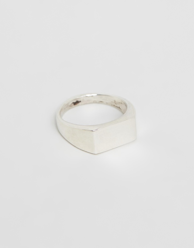 Heart of Bone - Small Rectangle Signet Ring