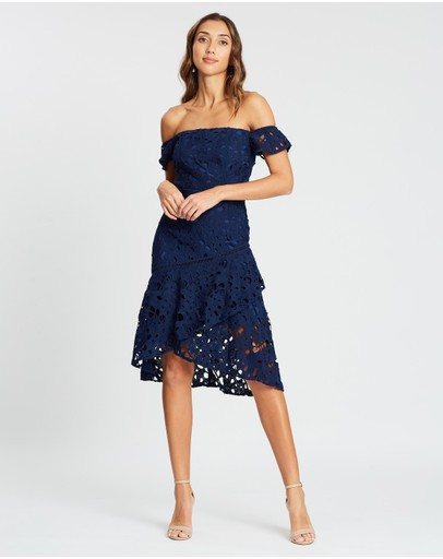 Chi London Mirri Dress Navy
