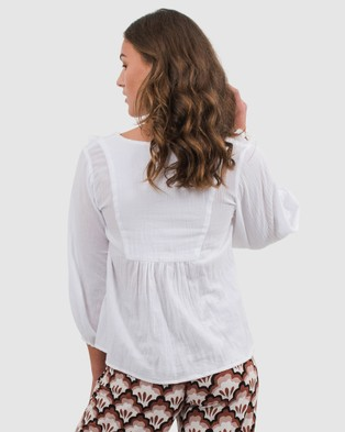 Folksong Billie Top - Tops (White)