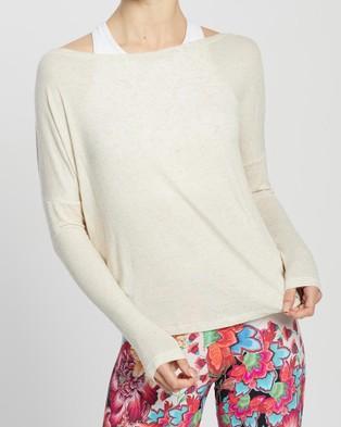 Liquido Active Twist & Shout Long Sleeve Tee - Long Sleeve T-Shirts (Off White)