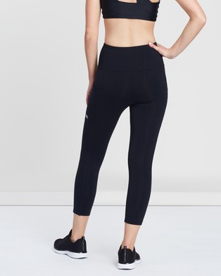 Running Bare Ab Waisted Power Moves 7 8 Tights - 7/8 Tights (Black)