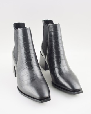 Sol Sana Atticus Boots Black Croc