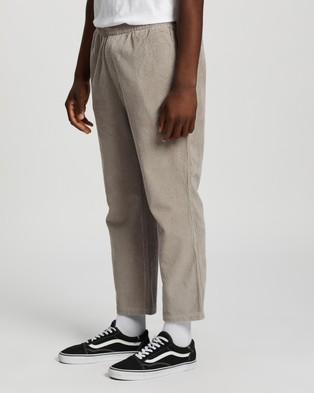 Stussy - Jackson Cord Beachpants - Pants (Grey) Jackson Cord Beachpants