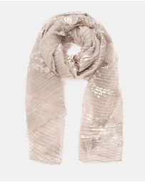 Forever New - Milly Rose Foil Pleated Scarf