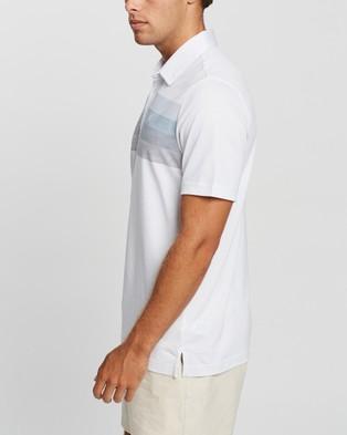 TravisMathew Umbrella Shade Golf Polo Shirt - Shirts & Polos (White)