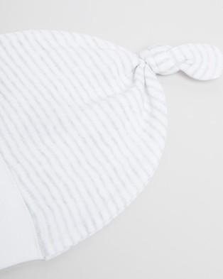 Purebaby Knot Hat - Headwear (Pale Grey Melange Stripe)
