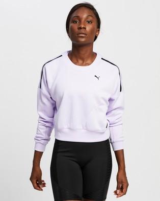 Puma Train Zip Crew Sweatshirt - Crew Necks (Light Lavender)