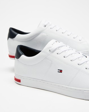 Tommy Hilfiger Essential Leather Detail Vulcanised Sneakers - Sneakers (White)