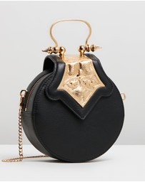 OKHTEIN - Mini Dome Bag with Leather Strap