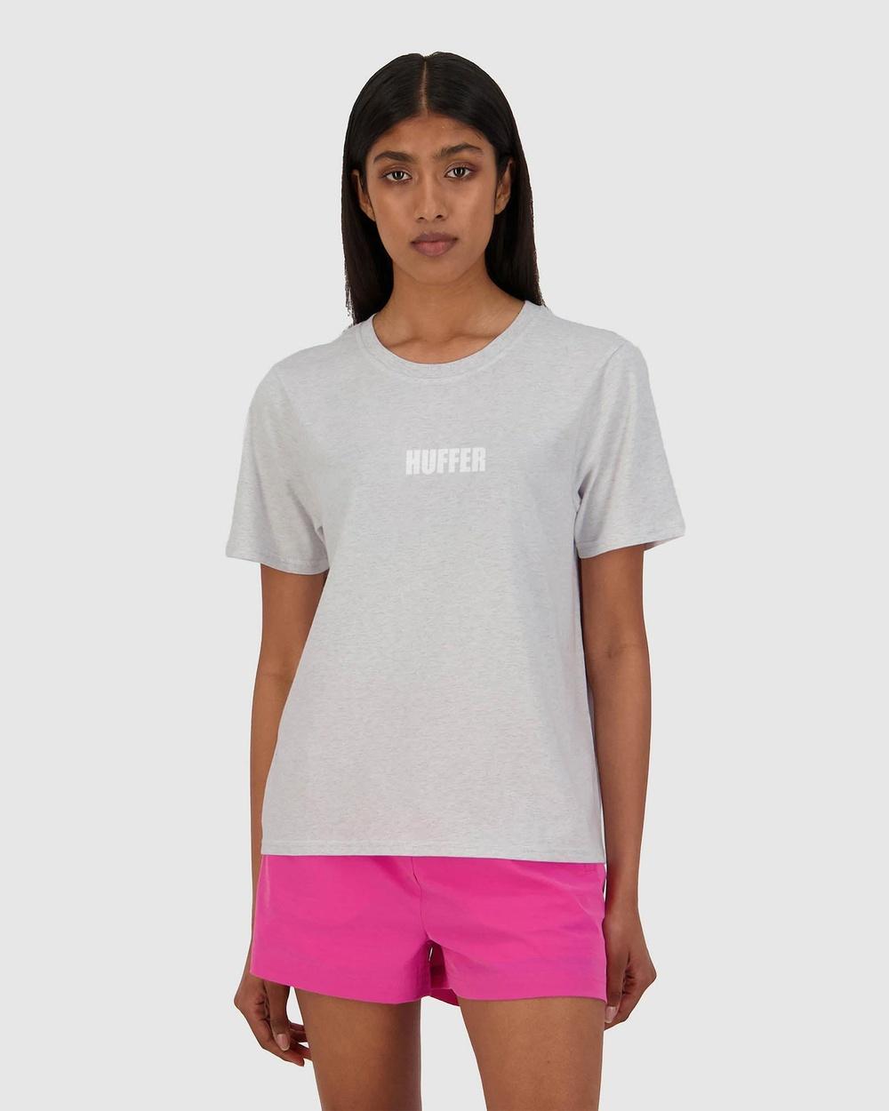 Huffer Women's Stella Tee Centric T-Shirts & Singlets Grey Tee-Centric Australia