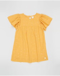Carrément Beau - Frill Sleeve Dress - Kids-Teens