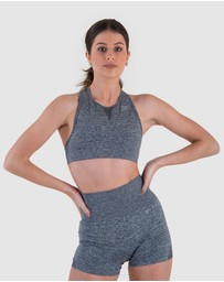 EN GARDE Apparel - Seamless in Grise Crop Top