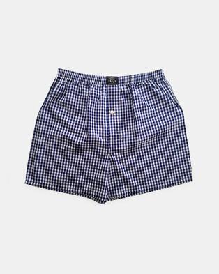 Coast Clothing Blue Boxer Shorts 2 Pack - Underwear & Socks (Blue)