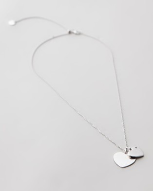Michael Hill - Heart Pendant with Cubic Zirconia Necklace - Jewellery (Sterling Silver) Heart Pendant with Cubic Zirconia Necklace