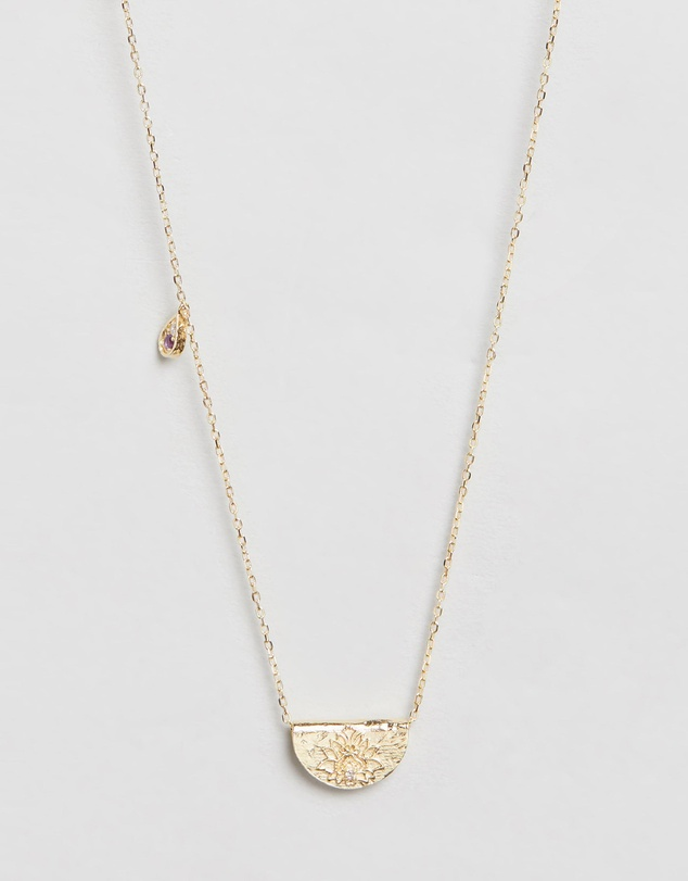 Women February Awaken Your Senses Gold Pendant Necklace