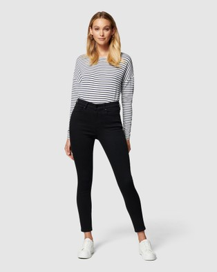 Forever New Sara Mid Rise 7 8 Jean Crop Black 7-8