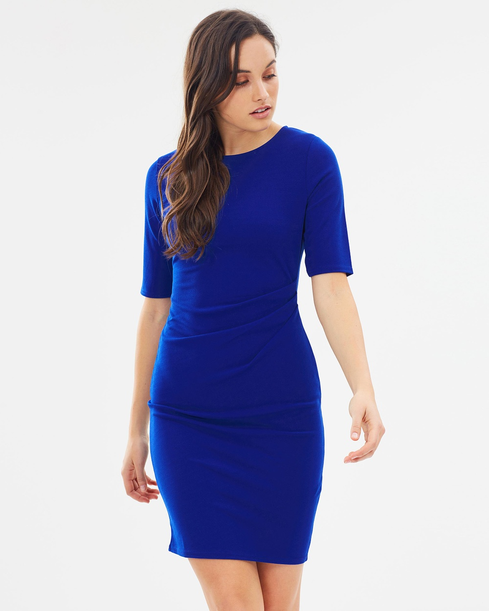 Dorothy Perkins Ruch Side Scoop Back Body Con Dress Bodycon Dresses Cobalt Ruch Side Scoop Back Body-Con Dress