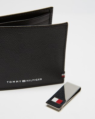 Tommy Hilfiger Business Mini CC Wallet & Clip - Wallets (Black)