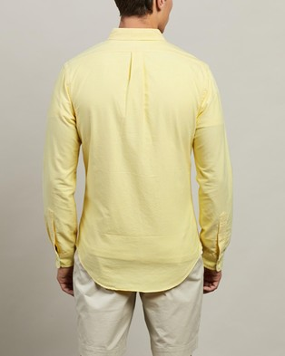 Polo Ralph Lauren ICONIC EXCLUSIVE   Long Sleeve Sport Shirt - Casual shirts (Yellow Oxford)