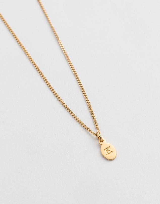 Women Initial K Necklace
