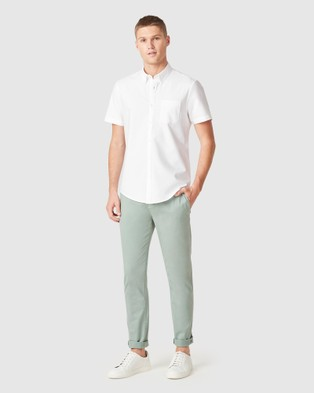French Connection Slim Fit Chino Pant - Pants (SAGE)