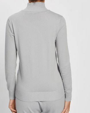 Third Form Fine Days Turtleneck Knit - Jumpers & Cardigans (Grey)